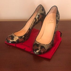LOUBOUTIN Sequined Print